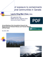 Mapping risk of exposure to contaminants among Aboriginal communities in Canada