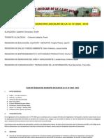 PLAN DE TRABAJO DEL MUNICIPIO ESCOLAR DE LA I.E.N° 2024 - 2015