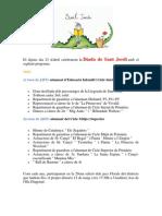 Programa JJFF i Sant Jordi 2015