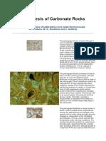 Diagenesis of Carbonate Rocks