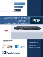 LTRT-40107 Mediant 1000B SBA for Microsoft Lync Server 2010 and 2013 Installation and Maintenance Manual