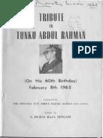 1963 Tribute to Tunku