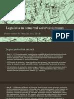 Legislatia in Domeniul Securitatii Muncii