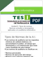 Unidad II Normativa Aplicada Auditoria Inf