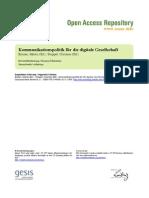 Kommunikationspolitik für die digitale Gesellschaft Emmer/Strippel