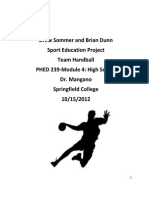 Sport Education for Handball