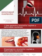 Tratamentul Chirurgical Al Anomaliilor Sagitale Şi Deformaţiile Maxilarului