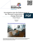 Investigation into the Thermal Conductivity of Phase Change Materials