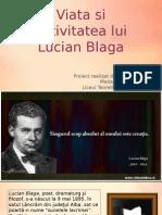 Viata Si Activitatea Lui Lucian Blaga