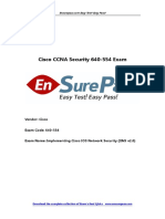 Latest Cisco EnsurePass CCNA Security 640 554 Dumps PDF