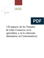Impacto de Los TLC en La Agricultura y La Soberanía Alimentaria en Centroamérica