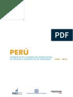 Estadísticas de La Emigración Internacional de Peruanos 1990 - 2013