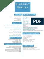 kimberly darche - cv