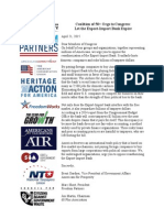 Export Import Bank Coalition Letter