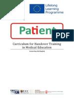 Curriculum for medical handover training
