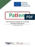 Curriculum für das Training von medizinische Patientenübergaben