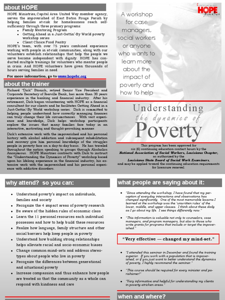 HOPE Ministries, Capital Area United Way Member | Poverty