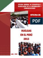 Índice de Huelgas en Peru 2013