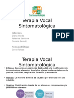 Terapia Vocal Sintomatológica