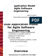 Dual Application Model for Agile Software Engineering