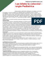 Raspunsuri Pe Bilete La Colocviul - Chirurgie Pediatrica