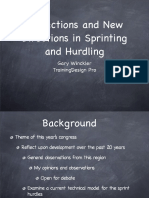 Gary Winckler Reflections and New Directions in Sprints&Hurdles