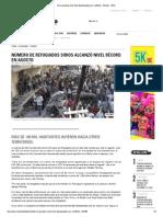 Siria Alcanza Récord de Desplazados Por Conflicto - Mundo - ADN
