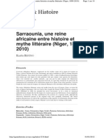 Sarraounia (Genre Et Hist.)
