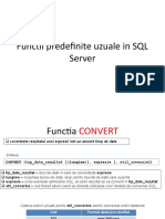 Functii Predefinite Uzuale in SQL