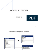 Proceduri stocate exemple