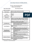 reflective lesson plan-science