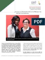 Un partenariat gagnant pour La Passerelle-I.D.É et PAD pour les familles francophones