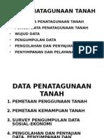 Data Penatagunaan Tanah