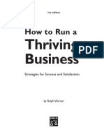 How to Run a Thriving Busness