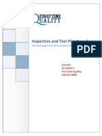 Inspection Test Plan - sample