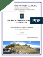 Informe de Salida a Campo de Yacimientos Minerales I