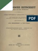 Byzantinische Zeitschrift Jahrgang 22 (1913)