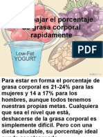 Como bajar el porcentaje de grasa corporal
