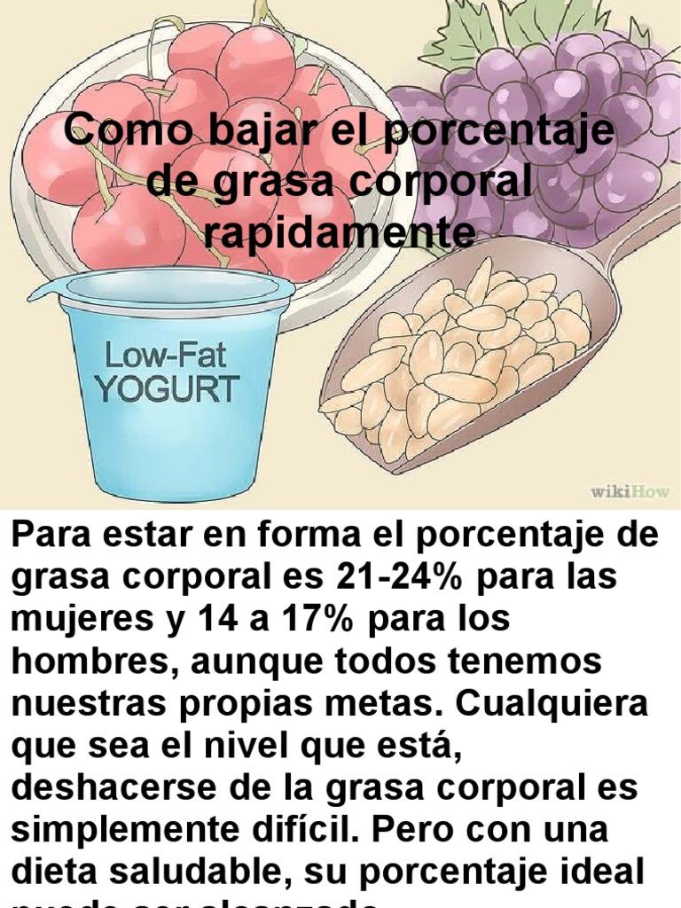 dieta grasa corporal