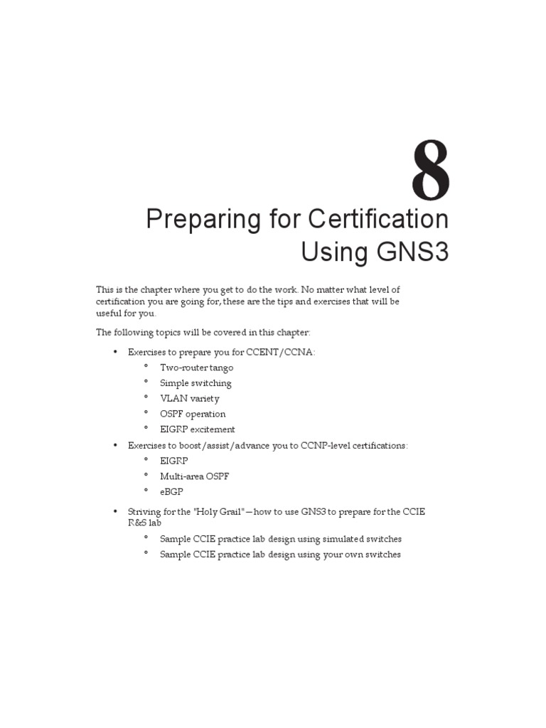 0809OS Chapter 8 Preparing for Certification Using GNS3   I