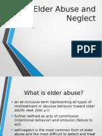 Elder Abuse and Neglect Presentation