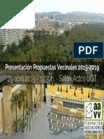 PresentacónPropuestas Vecinales 2015-2019