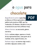 Como Agua Para Chocolate  analisis