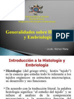 Clase Sobre Introduccic3b3n a La Histologc3ada y Embriologc3ada1