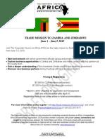 trade mission zambia and zimbabwe brochure