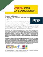 Voten por la Educación. Campaña Mundial de Educación (CME)