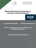Manual de Prestaciones y Servicio l Derechohabiente