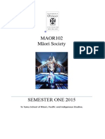 MAOR102 Course Outline 1-15