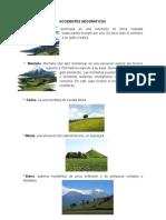 ACCIDENTES GEOGRÁFICOS (Terminarle de Poner Imagenes)