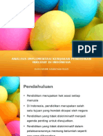 Analisis Implementasi Kebijakan Pendidikan Inklusif Di Indonesia